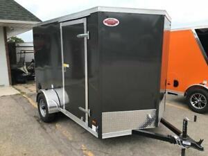 2019 HAULIN ENCLOSED CARGO TRAILER 6X10 RAMP DOOR PKG