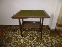 Retro four place poker table and tea trolley