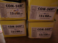 Con-sert concrete/masonry screws