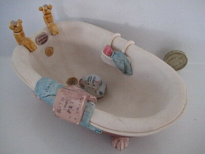 RARE ORIGINAL COLOUR BOX CAT PETER FAGAN HOME SWEET HOME HS214 BATH TUB