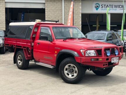 2000 Nissan Patrol GU ST Red 5 Speed Manual Cab Chassis East Brisbane Brisbane South East Preview