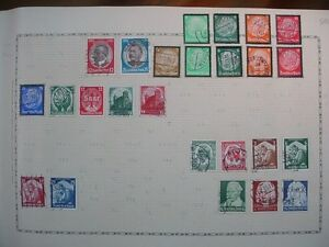 GERMANY-German-DEUTFCHES-REICH-Europe-STAMPS-Page-from-Old-Collection-LOT-596L