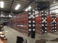 Nearly new used racking