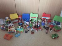 Early Learning Centre Happyland & Marks & Spencers figures, cars & village