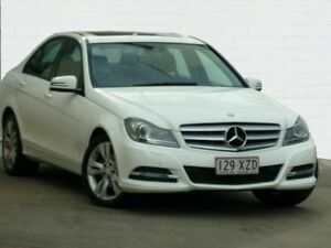 2013 Mercedes-Benz C200 W204 MY14 Avantgarde White 7 Speed Automatic G-Tronic Sedan Moorooka Brisbane South West Preview