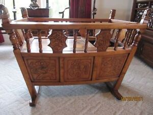 Shanghai Antique Baby Cradle and Playpen