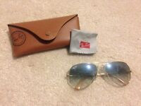 Authentic Ray Ban Aviator Sunglasses Blue