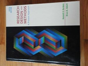 Research Design and Methods Fifth edition Bordens and Abbott London Ontario image 1