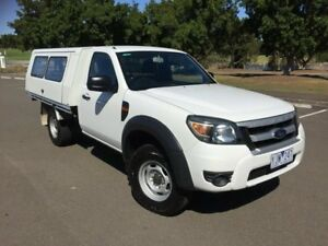 2011 Ford Ranger PK XL Hi-Rider (4x2) White 5 Speed Manual Cab Chassis Homebush West Strathfield Area Preview
