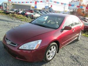 2005 Honda Accord Sdn EX V6/sun roof/Leather 117,000kms