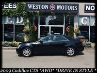 2009 Cadillac CTS AWD* DRIVE IN STYLE* LEATHER* PANO SUNROOF*