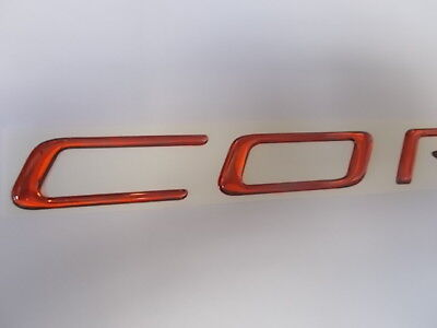1997-2004 C5 Rear Bumper Fills Letters Inserts Stainless Steel GM Licensed