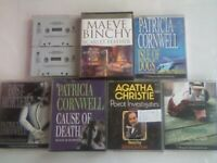 ABC JEFFREY ARCHER, MAEVE BINCHY, PATRICIA CORNWELL, AGATHA CHRISTIE AUDIO BOOK CASSETTE TAPES