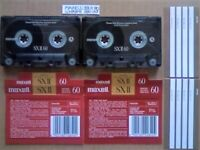 VERY RARE MAXELL SXII 60 CHROME CASSETTE TAPES. 1991-1993.