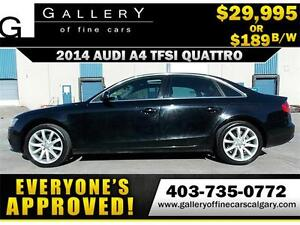 2014 Audi A4 TFSI QUATTRO $189 bi-weekly APPLY NOW DRIVE NOW