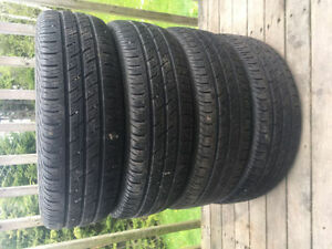 Four P185/65R15 Summer Tires
