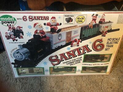 Santa 6 Electric Train Set, HO, New! In original packaging