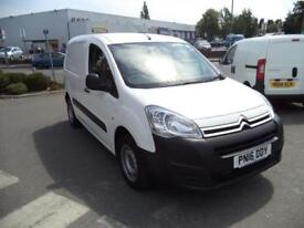 Citroen Berlingo L1 H1 1.6 Hdi 625Kg Lx 75Ps EURO 5 DIESEL MANUAL WHITE (2016)