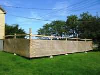 ****Fence in good conditon --- Selling with posts****