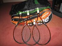 Prince 100T ESP Tennis Rackets and 12 Racket Bag