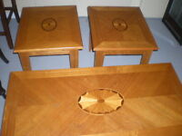 Nice Coffee Table And Two End Tables