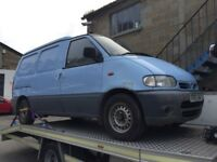 Nissan Vanette, starts and drives, exhaust blows, located in Gravesend Kent, any questons give us a