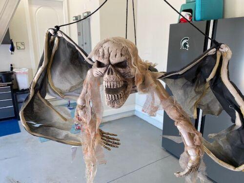 Hanging Bat Halloween Prop Decoration Skull Large 3 foot!
