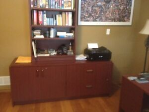 Office desk and cabinet unit