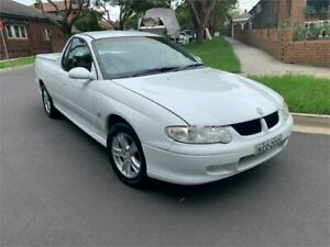 2001 Holden Commodore Vuii S White 5 Speed Manual Utility Croydon Burwood Area Preview