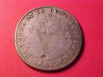 Ecuador Quito 4 Reales Silver 1841 Mv Nice Rare