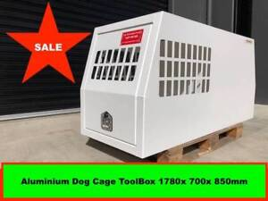 Dog Cage Aluminium Tool Box 1780x700x850mm Powder Coated