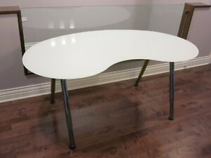 IKEA GALANT glass top table/desk (excellent and clean condition)