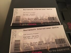 2 x Kaiser Chief Tickets Terrace Seating 24th February at Bournemouth International Centre
