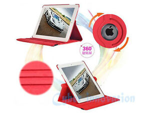 RED 360 ROTATING PU LEATHER CASE COVER WITH STAND FOR IPAD MINI Regina Regina Area image 3