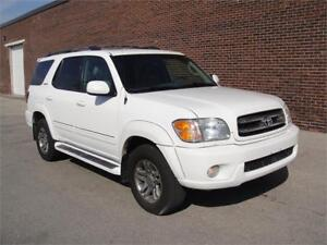 2003 TOYOTA SEQUOIA LIMITED-EVERY OPTION,REAR DVD,NO ACCIDENTS