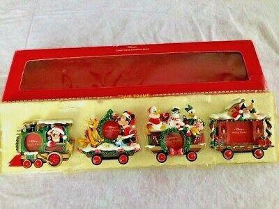 Disney Store Candy Cane Christmas 2000 Train Frame Set Mickey Mouse 4 Frames NIB