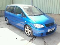 VAUXHALL ZAFIRA 2.0 GSI TURBO EDITION, MANUAL, 7 SEATS, ARDEN BLUE, STARTS DRIVES, SPARES REPAIR