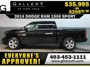 2014 DODGE RAM SPORT CREW *EVERYONE APPROVED* $0 DOWN $209/BW