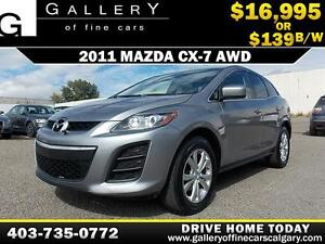 2011 Mazda CX-7 AWD $139 bi-weekly APPLY NOW DRIVE NOW