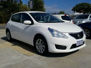 2013 Nissan Pulsar C12 ST White 1 Speed Constant Variable Hatchback St James Victoria Park Area Preview