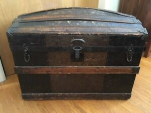 Antique chest blanket box sea trunk