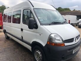 RENAULT MASTER DCI120 2.5 LWB minibus 2010/10 welfare/accessible 1 owner low miles