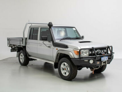 2014 Toyota Landcruiser VDJ79R MY12 Update GXL (4x4) Silver 5 Speed Manual Double Cab Chassis Jandakot Cockburn Area Preview