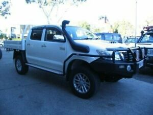 2014 Toyota Hilux KUN26R MY12 SR5 (4x4) White 4 Speed Automatic Dual Cab Pick-up Roselands Canterbury Area Preview