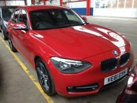 BMW 1 SERIES 2.0 116D SPORT 5d 114 BHP (red) 2012