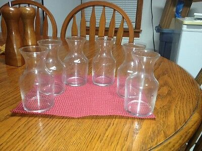 6 Libbey 6 oz. cocktail decanter / bud vases  719 New without box Never used