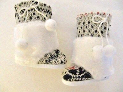 Doll Clothes Scandanavian Swedish White Furry Boots for American Girl Kirsten  - Furry Boots For Girls