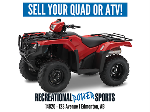 WE'RE BUYING 10 USED QUADS -- SELL YOURS TODAY!
