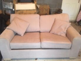 3 Seater Sofa Bed with Cushions and Mattress