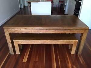 Dining table - solid handcrafted timber - seats 6-8 Mosman Mosman Area Preview